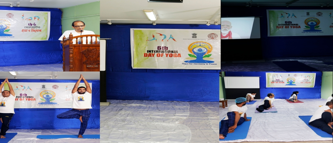 Celebration of International Day of Yoga, 2020 at Assistant High Commission of India, Chittagong on 21/06/2020