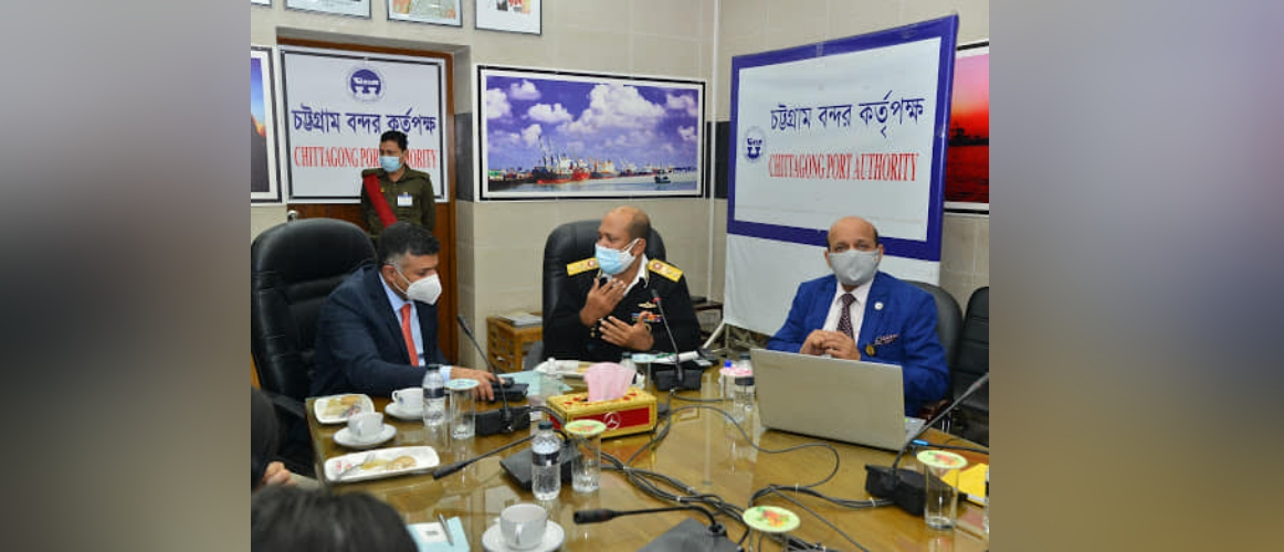 Visit of H.E. Mr. Vikram Doraiswami, High Commissioner of India to Chittagong Port Authority on 21.12.2020