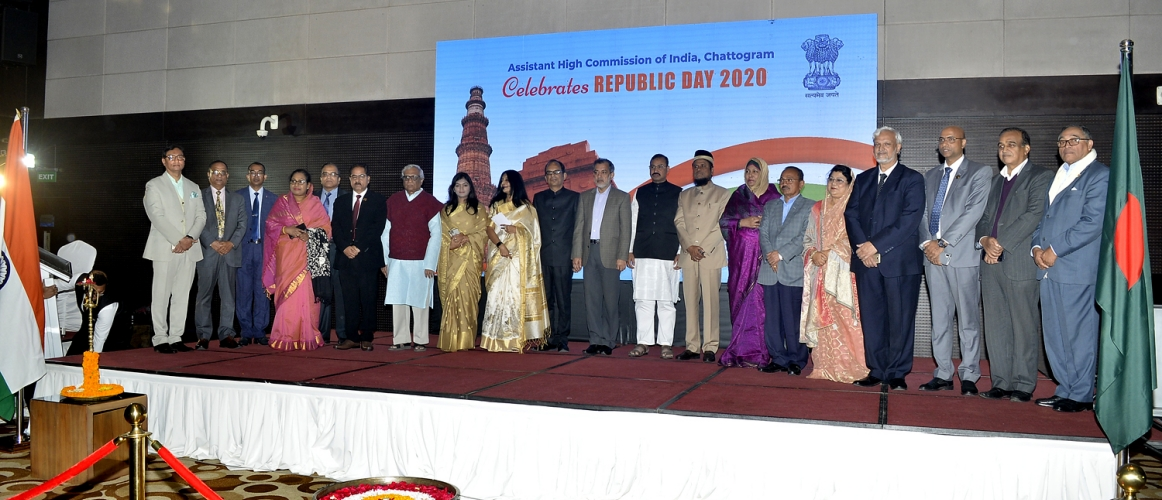Evening reception on the occasion of the Republic Day of India 2020 was organised at Hotel Radisson Blu Chittagong. Hon'ble Mayor of Chittagong City Corporation Mr. A. J. M. Nasiruddin graced the occasion as the Chief Guest. The Reception was very well attended by the distinguished dignitaries from Chittagong. A short cultural programme was organized. Few patriotic songs and dance performance were also organised on this occasion.