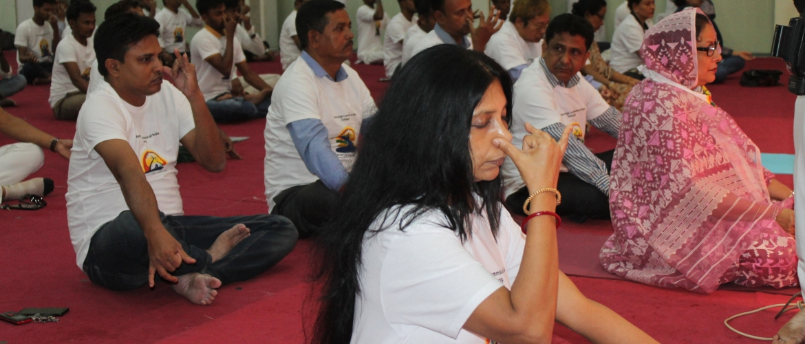 International Day of Yoga, 2019 at Cox's Bazar